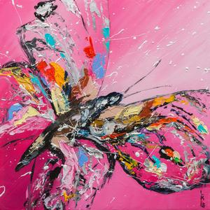 Butterfly on pink by Liubov Kuptsova