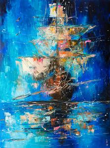 Ghost ship by Liubov Kuptsova