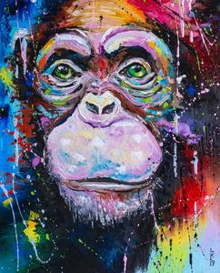I am chimpanzee by Liubov Kuptsova