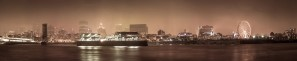 Rainy Day Montreal Panorama by Lrenz