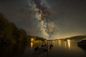 Milky way rises over Lac Simon by Lrenz