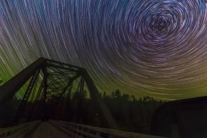 Abandon Train Tracks & Star Trails by Lrenz