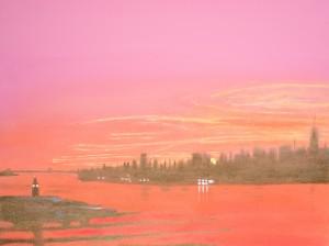 Sunrise Over the Hudson River by MJ Hoehn