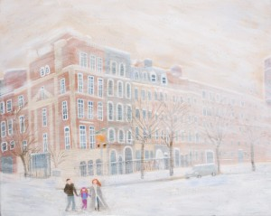 Snowy Winter Day in New York City by MJ Hoehn