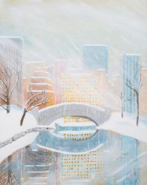 Central Park Snow by MJ Hoehn