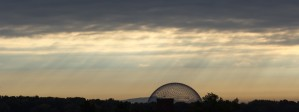 Sunrise on the biosphere Montreal Quebec Canada by Madame B