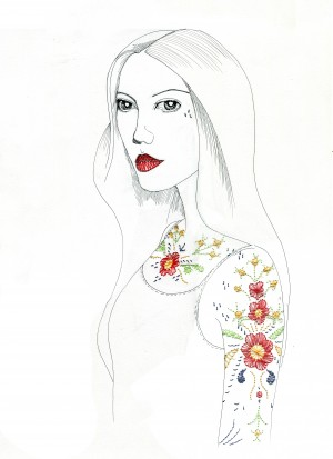 tattoo girl by Madeleine Sibthorpe