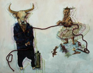 bear vs. bull by Madeleine Sibthorpe