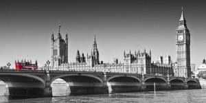 LONDON Westminster Bridge |panoramic view by Melanie Viola