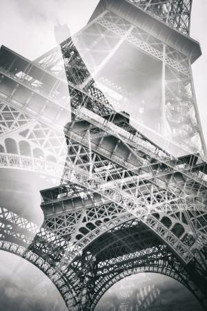 Eiffel Tower Double Exposure by Melanie Viola