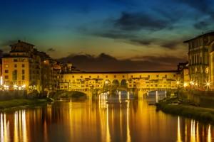 FLORENCE Ponte Vecchio at Sunset by Melanie Viola