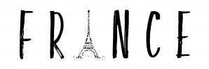 FRANCE Typography | Panoramic by Melanie Viola