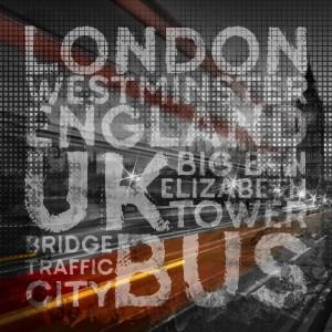 Graphic Art LONDON Westminster Bridge Traffic by Melanie Viola