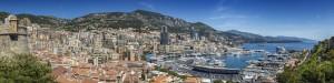 MONACO View to Monte-Carlo | Panoramic by Melanie Viola