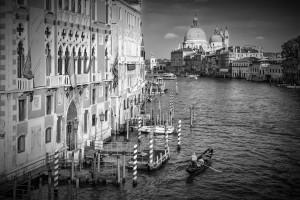 VENICE Canal Grande & Santa Maria della Salute | Monochrome by Melanie Viola