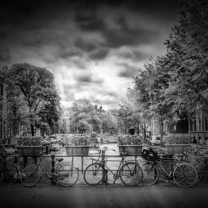 AMSTERDAM Gentlemen's Canal | monochrome by Melanie Viola
