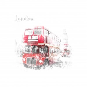 Graphic Art LONDON WESTMINSTER Street Scene by Melanie Viola