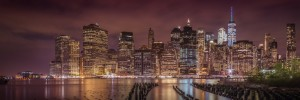 NEW YORK CITY Nightly Impressions | Panoramic View by Melanie Viola