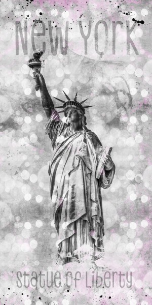Graphic Art NEW YORK CITY Statue of Liberty by Melanie Viola