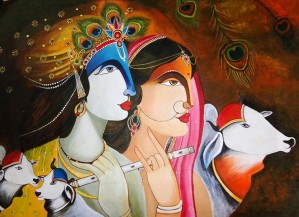 Krishna and Radha by Mrs Neeraj Parswal