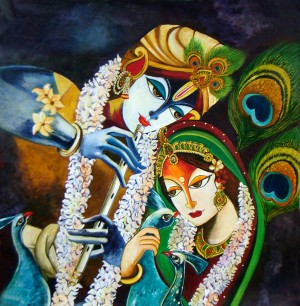 Immortal Love of Krishna and Radha by Mrs Neeraj Parswal