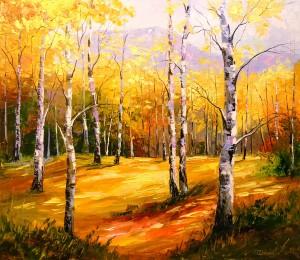 Birch grove by Olha Darchuk
