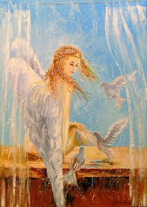 Angel on the window by Olha Darchuk