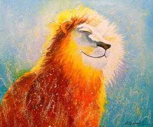 Happy lion by Olha Darchuk