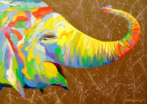 Elephant smiling by Olha Darchuk