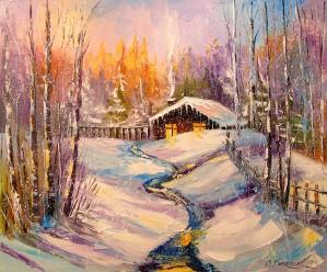 Winter morning by Olha Darchuk