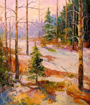 Winter forest by Olha Darchuk