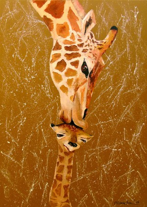 Love mother giraffe by Olha Darchuk