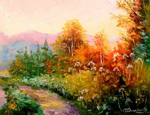 The road in the forest by Olha Darchuk