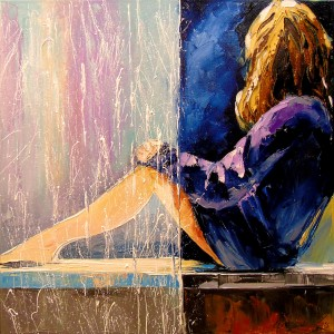 At the window by Olha Darchuk