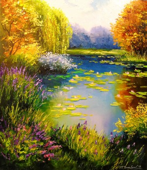Beautiful pond by Olha Darchuk