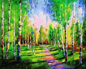 Birch grove summer by Olha Darchuk