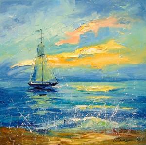 Sailboat by Olha Darchuk
