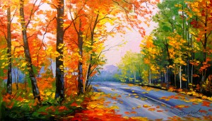 Autumn road by Olha Darchuk