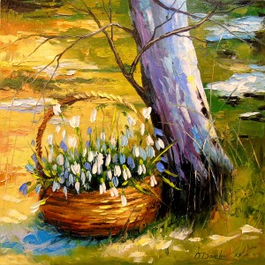 Basket of snowdrops by Olha Darchuk