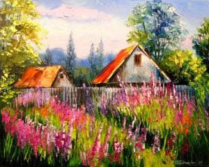 Summer in the village by Olha Darchuk