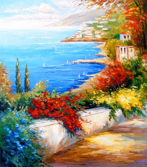 Bright day by the sea by Olha Darchuk