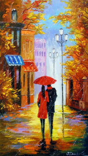 In the city of rain for two by Olha Darchuk