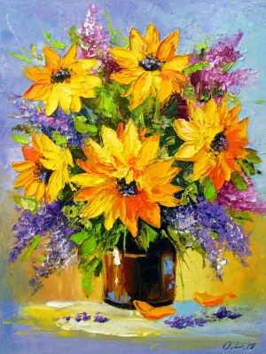 Bouquet of sunflowers by Olha Darchuk