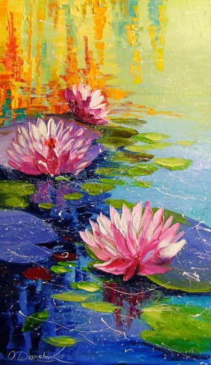 Pond and Lily  by Olha Darchuk