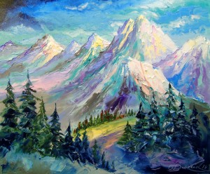 Snowy mountains by Olha Darchuk