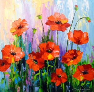 Blooming poppies by Olha Darchuk