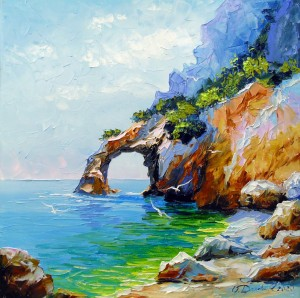 Arch of happiness in the sea  by Olha Darchuk