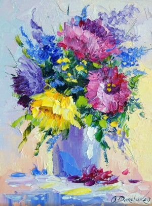 Bouquet of bright flowers  by Olha Darchuk