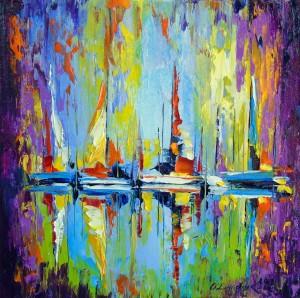 Boats at the pier by Olha Darchuk