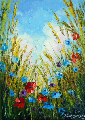 Summer flowers in the field by Olha Darchuk